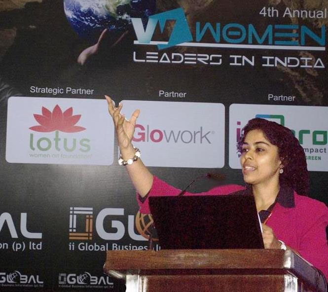 Speaker at Women Leaders in India seminar
