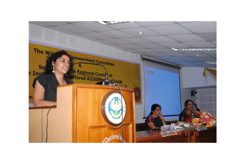 Speaker at the Institute of Chartered Accountants of India Women Empowerment Committee