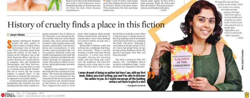 Article in New Indian Express