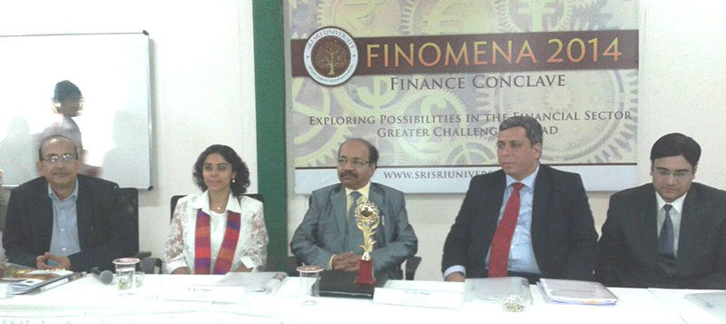 Speaker at the Finance Conclave at Sri Sri University, Odisha